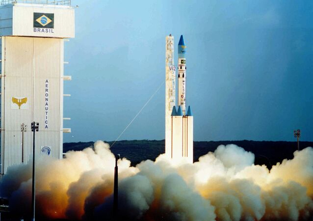 Undated file photo of a Brazilian satellite launch vehicle, similar to one which exploded at the Alcantara Launch Center in northeast Brazil, 22 August 2003