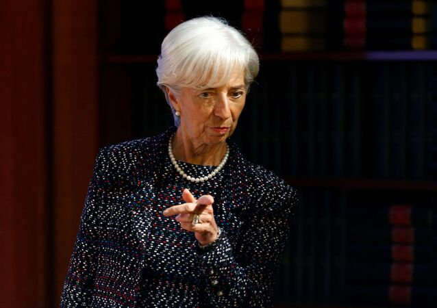 International Monetary Fund (IMF) Managing Director Christine Lagarde arrives to deliver a speech at the Solvay Library in Brussels, Belgium April 12, 2017.
