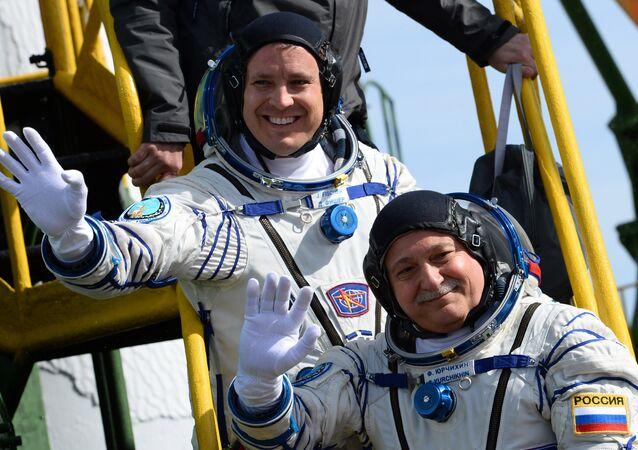 Roscosmos cosmonaut Fyodor Yurchikhin and NASA astronaut Jack Fischer