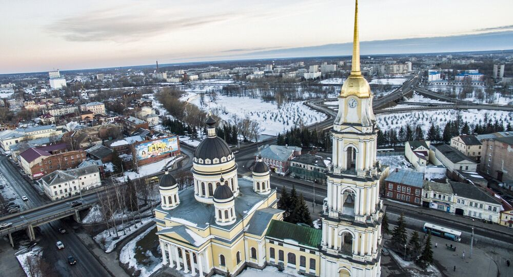 The Transfiguration Cathedral in Rybinsk, on the right bank of the Volga. File photo
