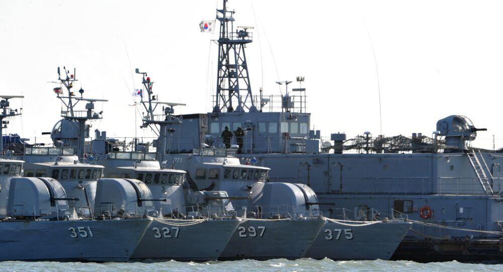 South Korean navy vessels (File)