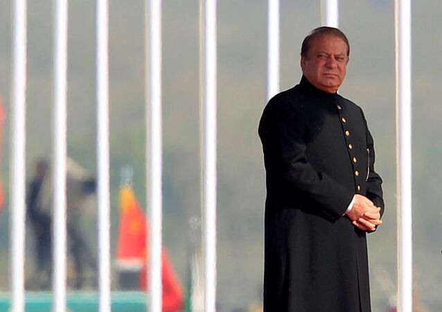 Pakistan's Prime Minister Nawaz Sharif attends the Pakistan Day military parade in Islamabad, Pakistan, March 23, 2017