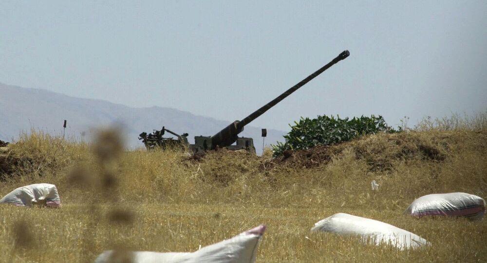 Syrian anti-aircraft gun (file)