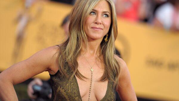Jennifer Aniston arrives at the 21st annual Screen Actors Guild Awards at the Shrine Auditorium on Sunday, Jan. 25, 2015, in Los Angeles.  - Sputnik International