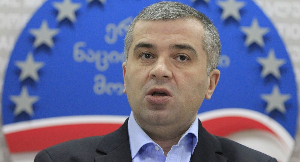 Leader of opposition United National Movement Party David Bakradze. (File)
