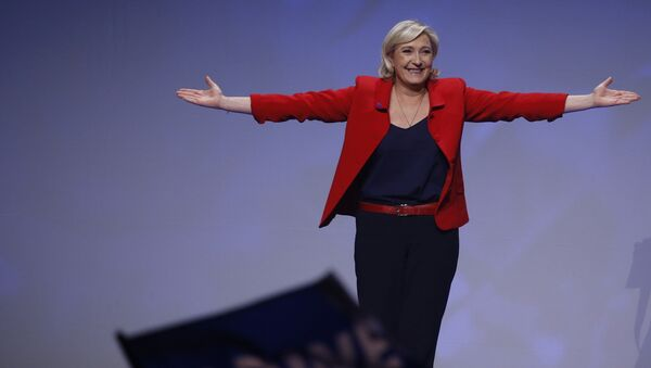 Marine Le Pen, French National Front (FN) political party leader and candidate for French 2017 presidential election, attends a campaign rally in Paris, France, April 17, 2017. - Sputnik International