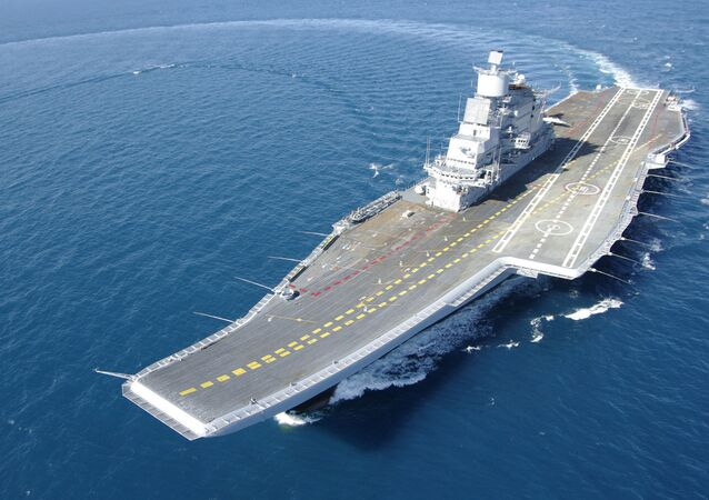 Indian Aircraft Carrier INS Vikramaditya (ex- Gorshkov) during her sea trials
