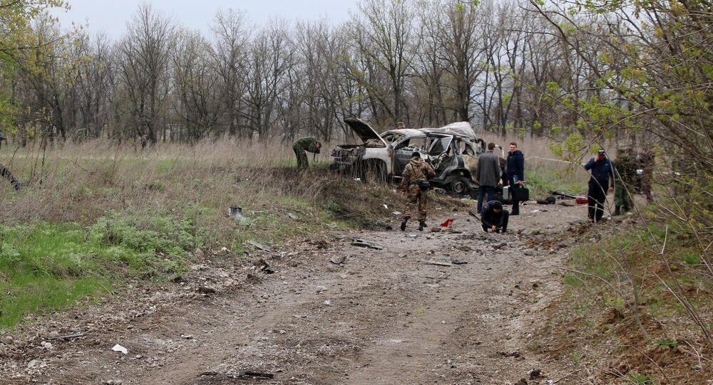 OSCE staff member killed in car explosion in Lugansk region