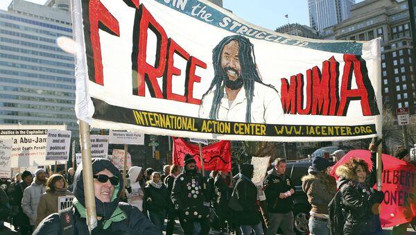 Demonstration in support of Mumia Abu Jamal, December 2006 - Sputnik International