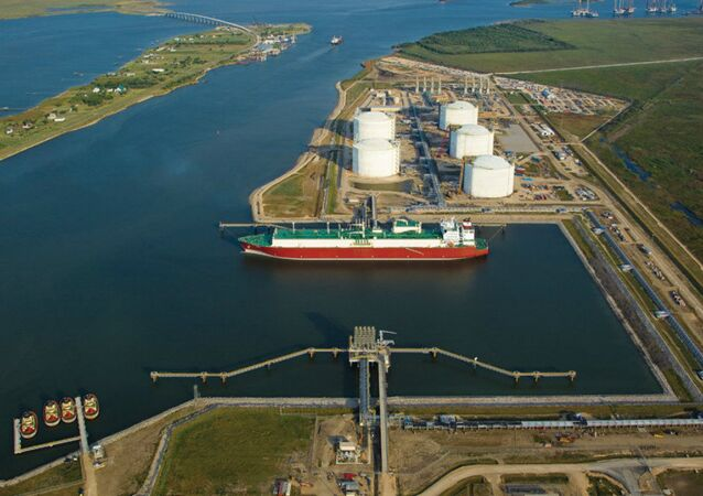 Golden Pass LNG Terminal on the Sabine-Neches Waterway in Sabine Pass, Texas