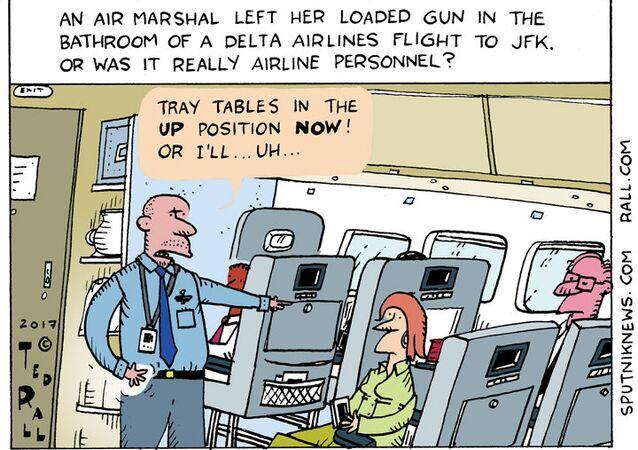 Delta Airlines Gun Cartoon