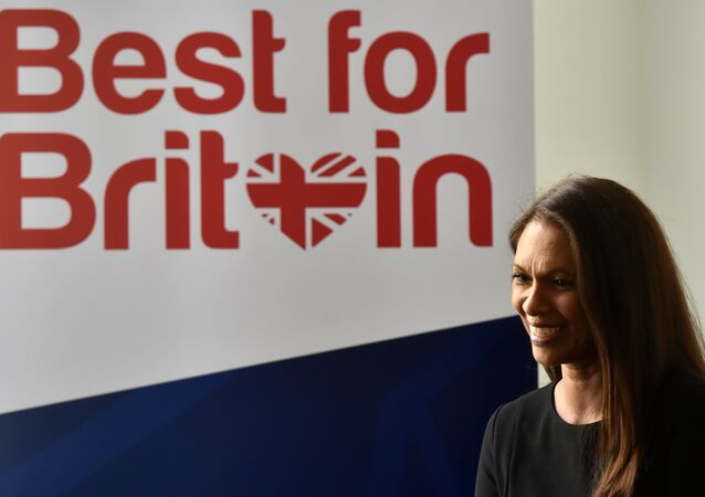 Campaigner Gina Miller speaks to journalists after launching her Best for Britain initiative in London, April 26, 2017.