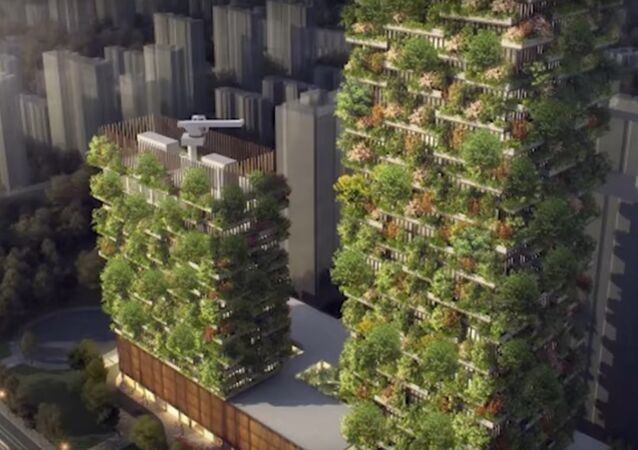 Vertical Forests rendering for Nanjng, China