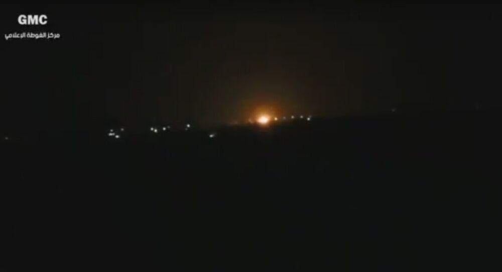 Fire near Damascus International Airport