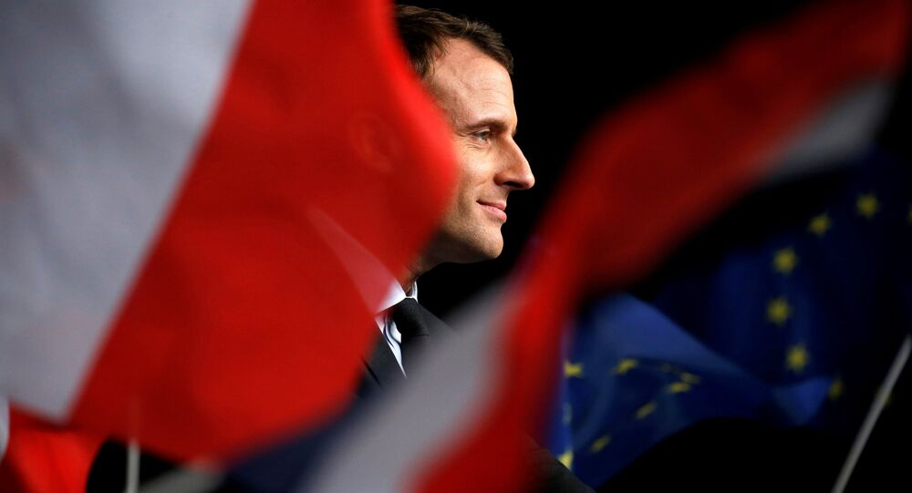 Emmanuel Macron, head of the political movement En Marche !, or Onwards !, and candidate for the 2017 presidential election, attends a meeting in Reims, France March 17, 2017