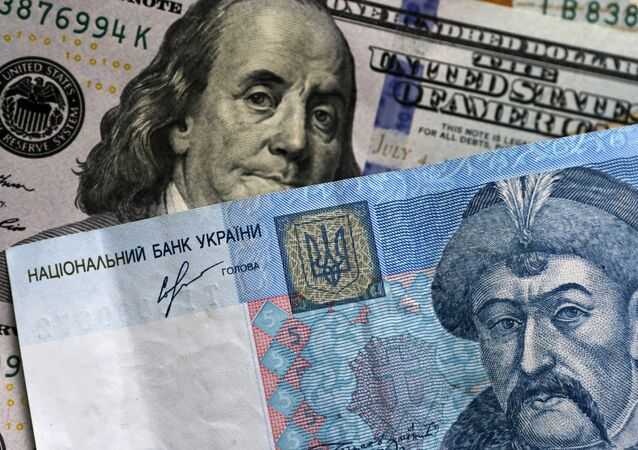 US dollar and Ukrainian hryvnia notes