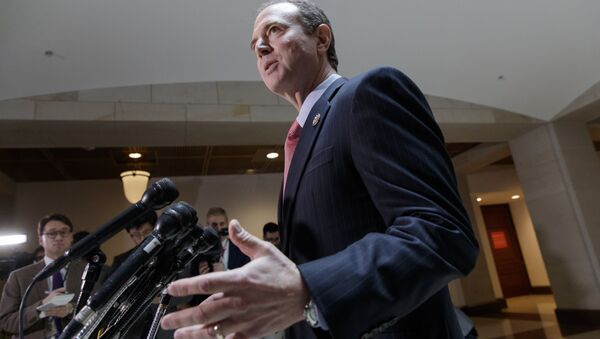 Rep. Adam Schiff, D-Calif., ranking member of the House Intelligence Committee, speaks to reporters on Capitol Hill in Washington, Thursday, March 30, 2017 - Sputnik International