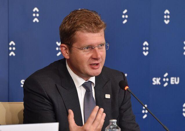Slovak Economy Minister Peter Ziga