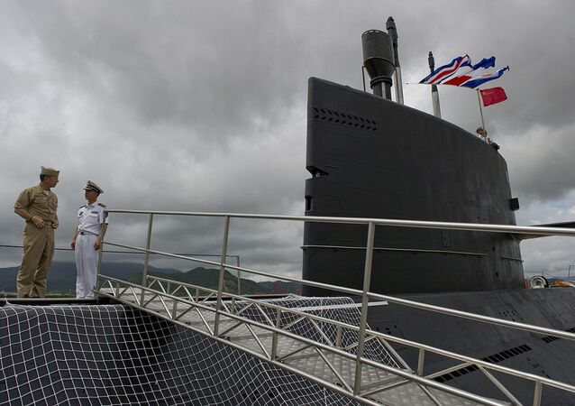 Chinese People's Liberation Army-Navy submarine Yuan at the Zhoushan Naval Base in China