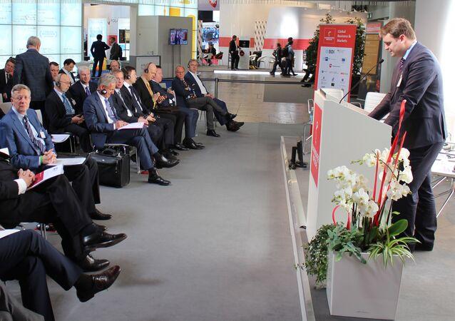 St. Petersburg International Economic Forum session in Hanover