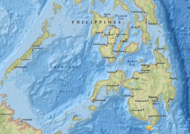 Map showing earthquake in the Philippines