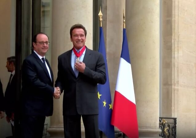 Arnold Schwarzenegger Receives Legion Of Honor