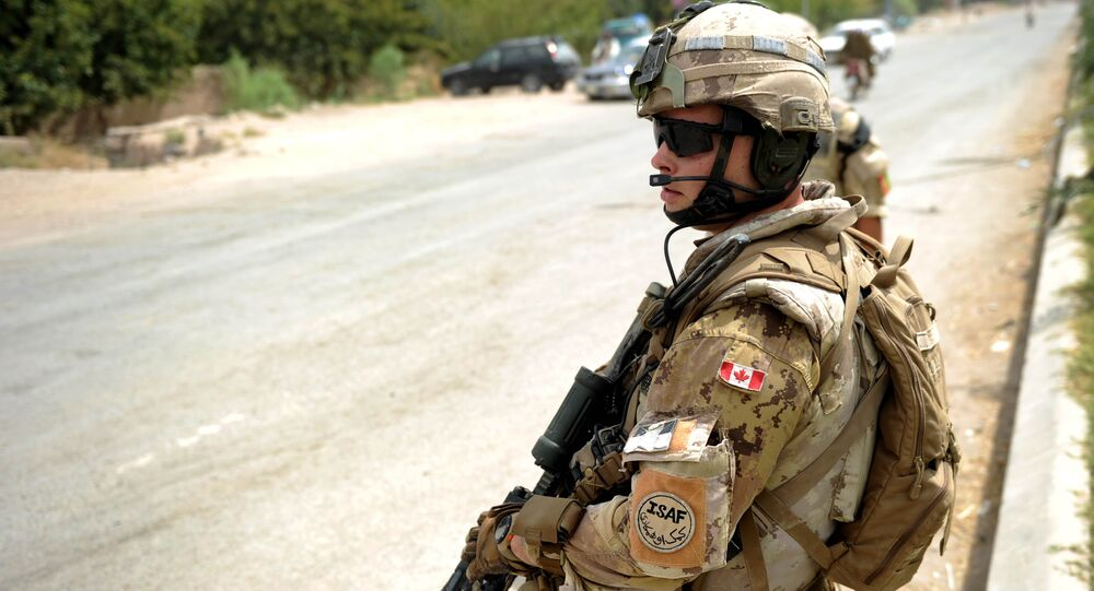 A Canadian NATO soldier