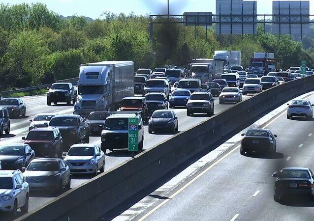 Traffic is bumper to bumper
