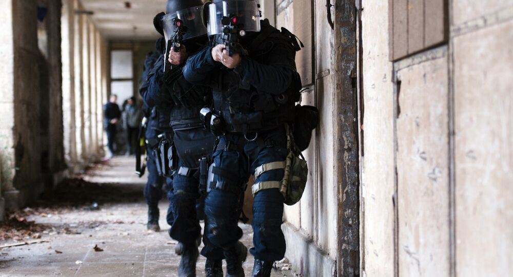 French National Gendarmerie Intervention Group (GIGN) members participate in a training session at the Mondesir base near Etampes, west of Paris. (File)