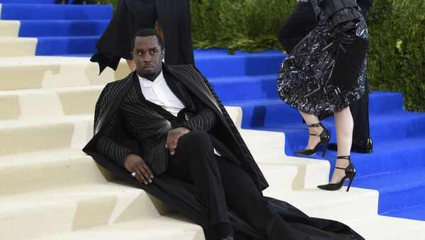 Sean Combs, a.k.a. Puff Daddy or Diddy at the Met Gala in New York in 2017. - Sputnik International