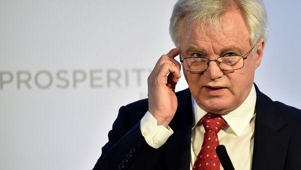 Britain's Secretary of State for leaving the EU David Davis speaks at the Prosperity UK 2017 conference in London, April 26, 2017 - Sputnik International