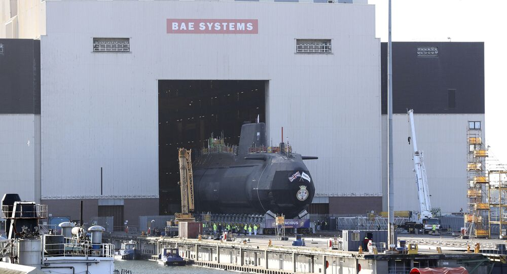 HMS Audacious, the fourth Astute-class nuclear-powered submarine of the Royal Navy, is taken out of the indoor ship building complex at BAE Systems, Burrow-in-Furness, England, Thursday April 27, 2017. HMS Audacious is due to be launched later in 2017.