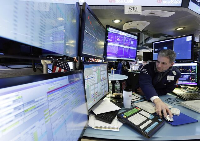 Specialist Anthony Rinaldi works at his post on the floor of the New York Stock Exchange, Tuesday, March 14, 2017