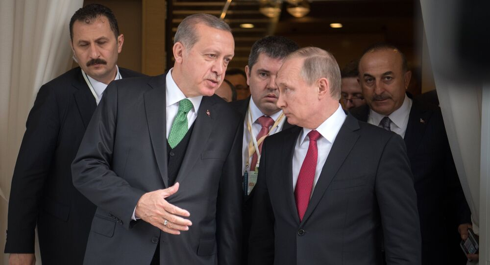 President Vladimir Putin meets with President of Turkey Recep Tayyip Erdogan