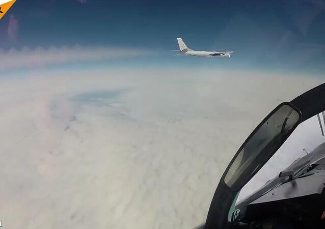 Tu-95 Bear Strategic Bombers' Practice Exercise