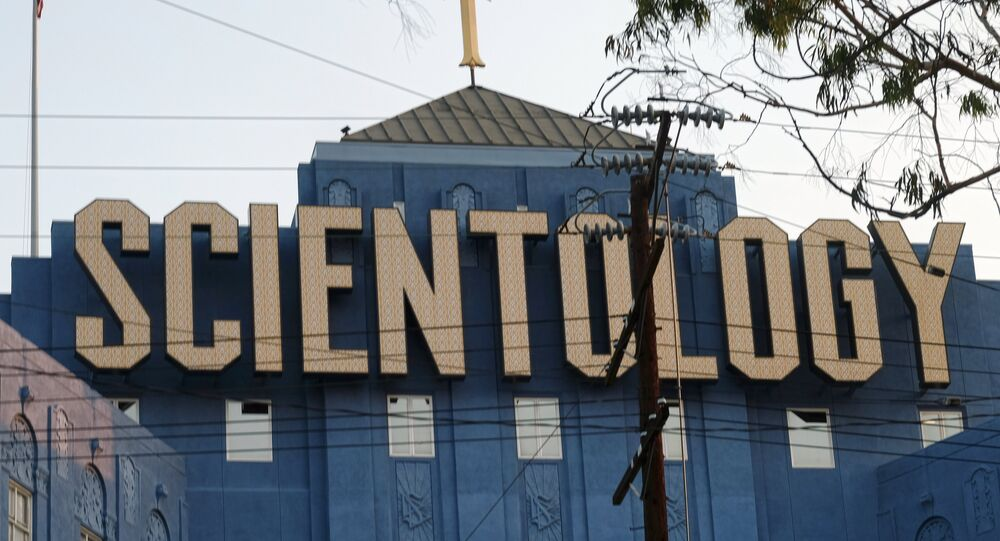 The Scientology Cross, perched atop the Church of Scientology in Los Angeles