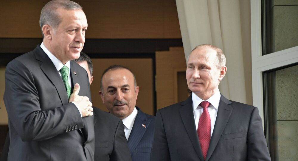 Vladimir Putin meets with Turkish president Recep Tayyip Erdogan