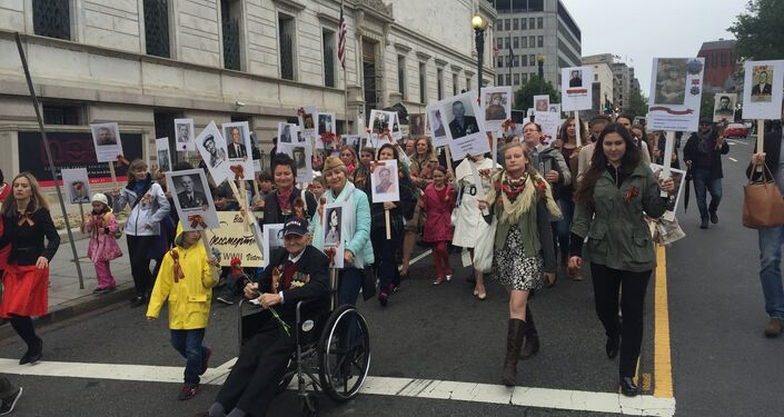 Washington Holds 'Immortal Regiment' March to Honor Victory Day