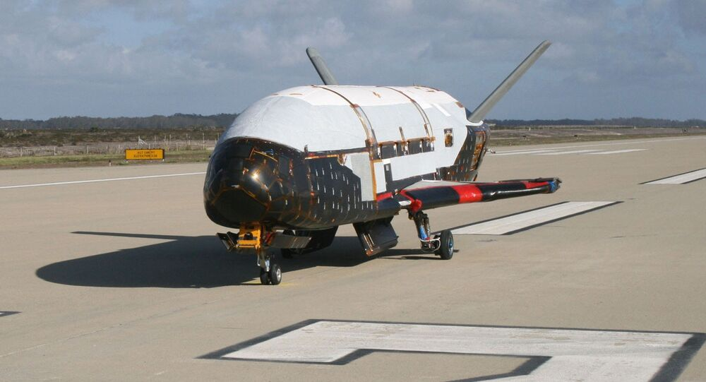 X-37B Orbital Test Vehicle at Vandenberg Air Force Base, Calif.
