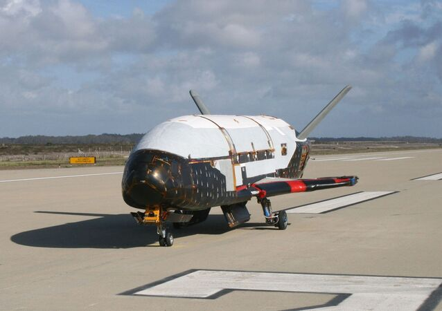 X-37B Orbital Test Vehicle at Vandenberg Air Force Base, Calif.