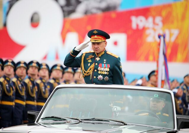 Russian Defense Minister Sergei Shoigu at the military parade marking the 72nd anniversary of Victory in the Great Patriotic War of 1941-1945, Moscow. File photo