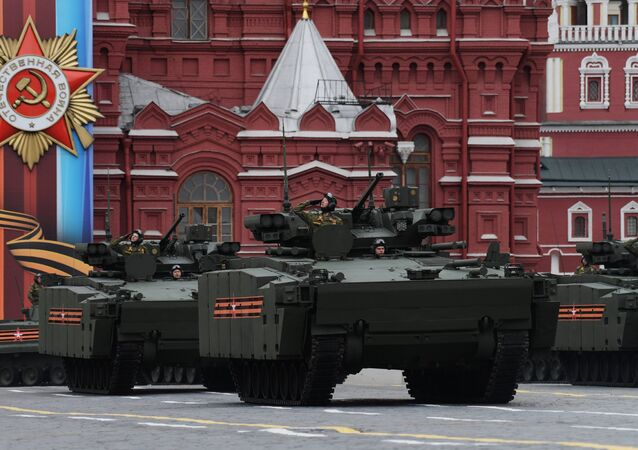 An infantry fighting vehicles on the Kurganets-25 chassis during the military parade in Moscow marking the 72nd anniversary of the victory in the Great Patriotic War of 1941-1945.