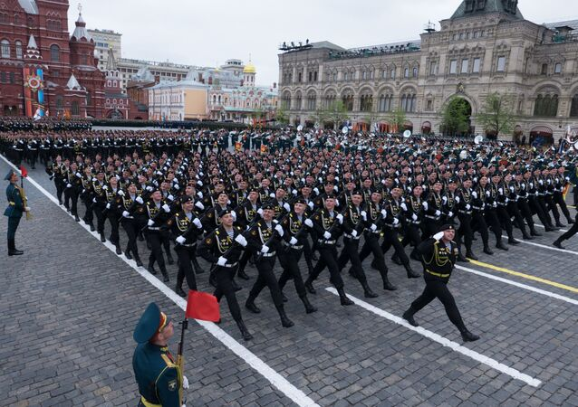 Military parade marking the 72nd anniversary of Victory in the Great Patriotic War of 1941-1945, Moscow.