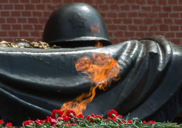 The Eternal Flame at the Tomb of the Unknown Soldier in the Alexander Garden.