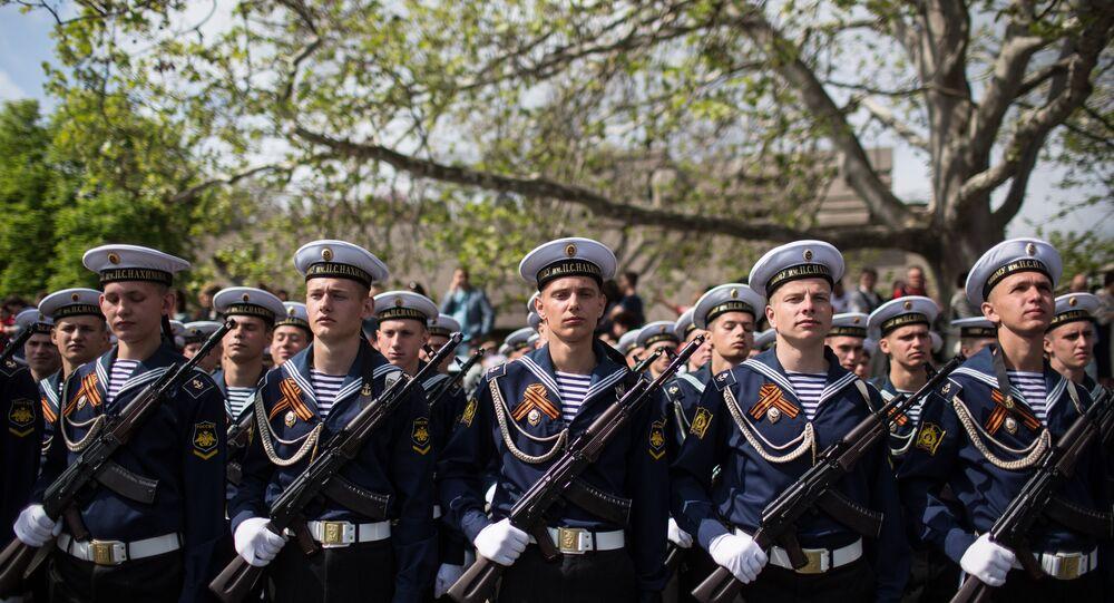 The Victory Day parade in Crimea's Sevastopol