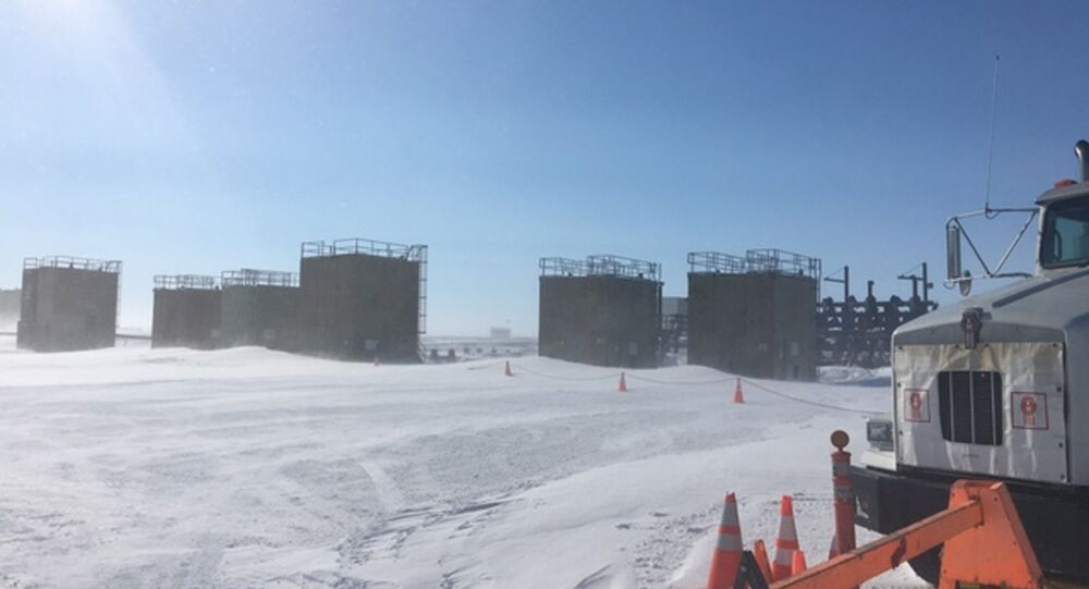 Oil well on Alaska's frozen North Slope. (File)