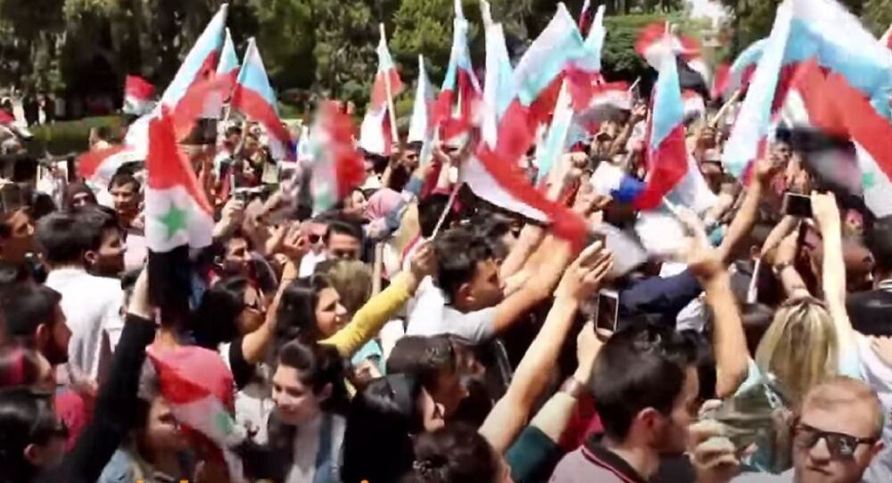 Syrians Celebrate Victory Day
