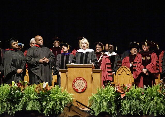 US Secretary of Education Betsy DeVos drowned out by boos as she attempts to deliver a commencement speech at Bethune Cookman University.