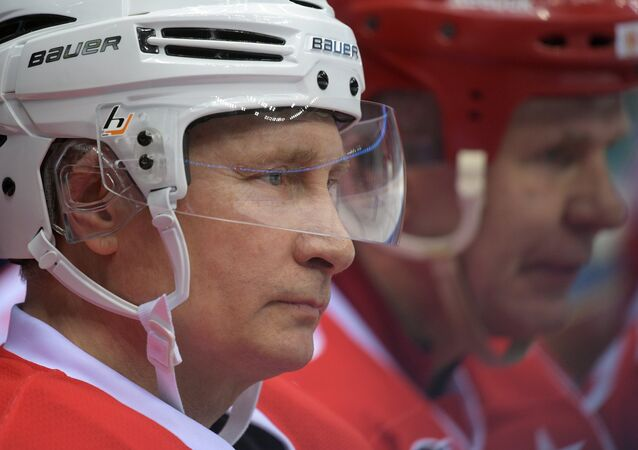 President Vladimir Putin takes part in gala match of Night Hockey League's 6th National Festival