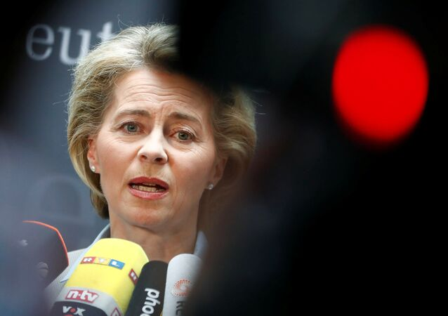 German Defense Minister Ursula von der Leyen gives a statement to the media prior she faces the defense commission of the lower house of parliament Bundestag in Berlin, Germany May 10, 2017.